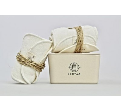 EcoTao Prestige Set of 14 Reusable and Cleansing Wipes