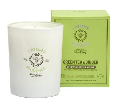 L'Atelier de Provence - Green Tea & Ginger - Candle 50 hours + L'Atelier de Provence - Green Tea & Ginger - Chandelle 50 heures