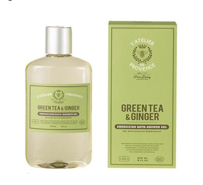 L'Atelier de Provence - Green Tea & Ginger - Shower Gel 225ml