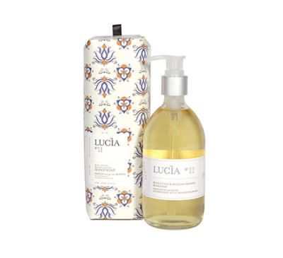 Lucia - Hand Soap 300ml-Blue Lotus & Sicilian Orange / Lucia - Savon pour les Mains 300ml-Lotus Bleu & Orange Sicilienne